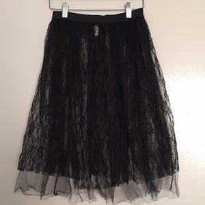 Dresses & Skirts - Sheer Black Lace Skirt
